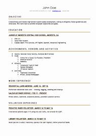 Resume Example College Student Inspirational High School Resume