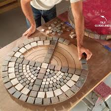 Build an Outdoor Table With Tile Top and Steel Base Mosaics Diy