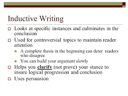 writing the inductive essay going from examples to conclusions  2 inductive