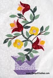 25+ parasta ideaa Pinterestissä: Flower applique patterns ... & Free Flower Applique Patterns | The Quilt Ladies Book Collection: An  Applique Basket of Flowers Adamdwight.com
