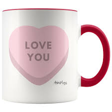 Only 1 available and it's in 2 people's carts. Love You Candy Hearts Coffee Mug Adore Mugs