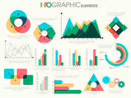 Presentation Charts And Graphs Free Various Colorful Business Infographic Elements Including