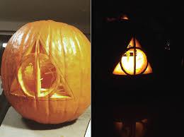A Deathly Hallows Pumpkin