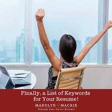 Finally A List Of Keywords For Your Resume