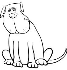 Small Picture Big dog cartoon for coloring book Royalty Free Vector Image