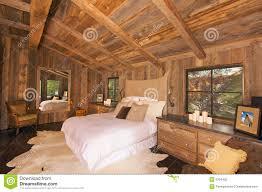 Log Cabin Bedroom Luxurious Rustic Log Cabin Bedroom Stock Photography Image 8104462