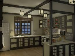Japanese Kitchen Design Japanese Style Kitchen 3d Visualization And Design Work In