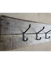 Great Deal on Rustic pallet coat rack reclaimed wood towel rack