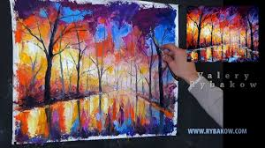 how to oil paint free oil painting lesson rainy night park 1 hour