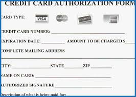 Credit Card On File Form Templates 67 Good Photograph Of Credit Card On File Authorization Form
