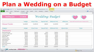 Simple Budget Plan Wedding Expenses List Spreadsheet Simple Budget Calculator