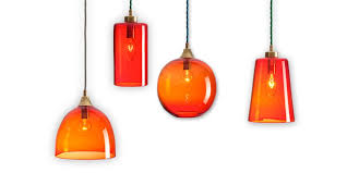 rothschild bickers glass pendant lights set of four