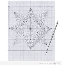 Geometric String Art Pattern