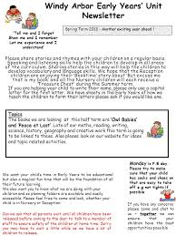 windy arbor early years unit newsletter spring term  windy arbor early years unit newsletter spring term 2013 another exciting year ahead