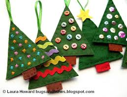 Yarn Stamped Christmas Tree Kids Crafts  Puttiu0027s World Kids Christmas Tree Kids