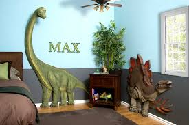 kids bedrooms with dinosaur themed wall