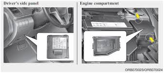 hyundai accent fuse relay panel description fuses maintenance notice