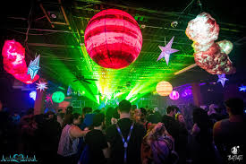 Rave Theme Party Cotton Candy Galaxy Theme Rave And Party Decor Inflatable Planets