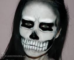 lady a inspired halloween skull makeup tutorial