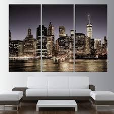 city skyline canvas art print new york night large wall art new on canvas wall art new york city with shop new york skyline wall art on wanelo