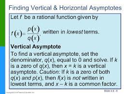 finding vertical horizontal asymptotes