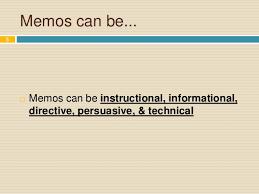 Persuasive Memo Examples Memo Writing