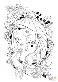 Small Picture A Girl with a Rat coloring page Free Printable Coloring Pages