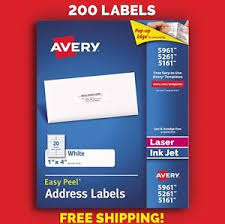 Avery 5261 Label Template Details About 200 Avery 5961 5261 5161 Address Mailing Shipping Labels 1 X 4