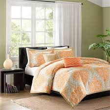 amazing orange and gray bedding 26 teal comforter sets grey king size white