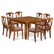 Shop Pfna9 Sbr Bronzecopper Rubberwood 9 Piece Dining Room Set