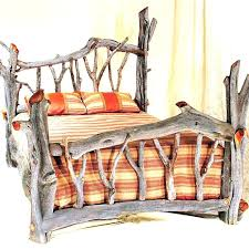 Queen Size Log Bed Frame Log Bed Me Mes Best Ideas On Timber King ...