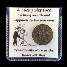 lucky sixpence for the bride s shoe