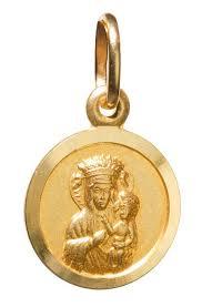 14k gold madonna child circle pendant 0 5 inch