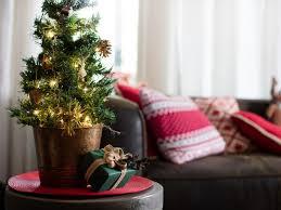 tabletop christmas tree decorating ideas hgtv