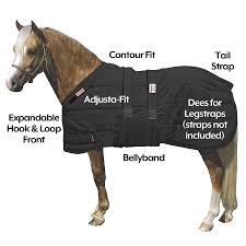 Dura Nylon Expandable Bellyband Pony Xl Foal Stable Blanket