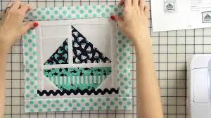 Sailboat Quilt Pattern Simple Decoration