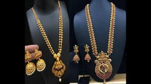 Latest Gold Haram Designs In 40 Grams Latest Gold Aaram Jewellery Designs Beautiful Gold Haram Models