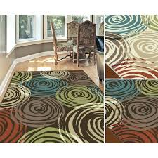 blue brown area rug leaf pattern rugs shock square modern home interior and
