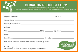 8 Charitable Donation Request Form Template Farmer Resume