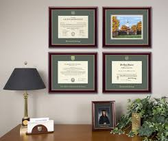 diploma frame arrangement