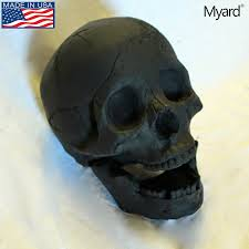 myard fireproof human fire pit skull gas log for ng lp wood fireplace firepit campfire decor barbecue black 1pk