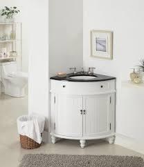 Bathroom White Cabinets Bathroom Bamboo Corner Bathroom Vanity With Marble Vessel Sink