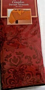 details about caiden damask tablecloth 60 round seats 4 red 100 polyester