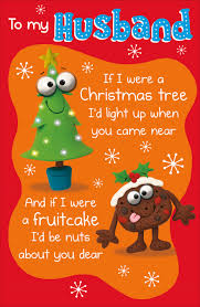 To My Husband Funny Verse Christmas Greeting Card | Cards | Love Kates