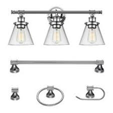 houzz bathroom vanity lighting. 1st Avenue - Finch 5-Piece Bathroom Light And Bar Set, Chrome Houzz Vanity Lighting