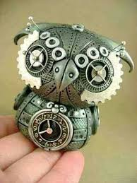 Pin by Muriel Wolf on Steampunk | Steampunk owls, Owl pottery, Steampunk