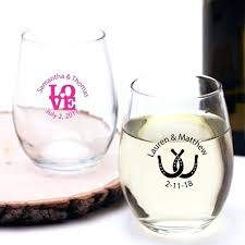 enchanting personalized stemless wine glasses personalized stemless wine glass favors personalized stemless wine glasses bulk canada