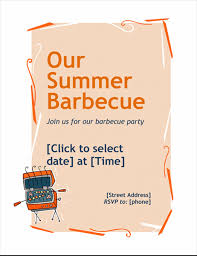 Barbeque Invitation Bbq Invitation Flyer
