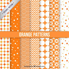 Pattern Collection Magnificent Orange Patterns Collection Vector Free Download