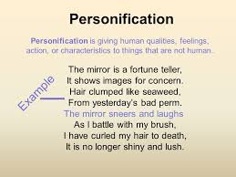 imagery and personification ppt video online  2 personification example